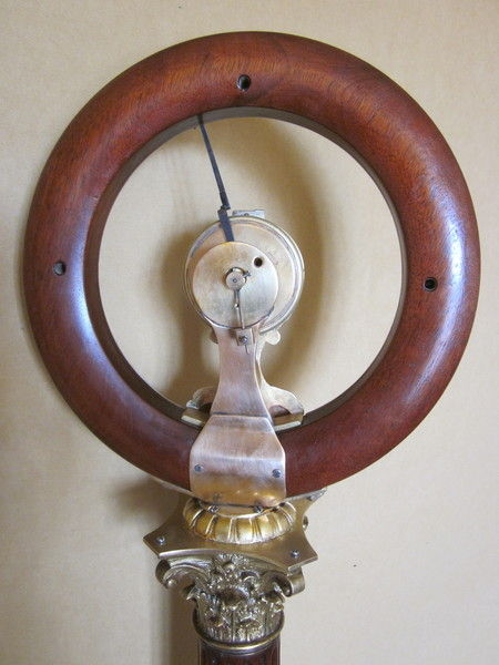 Rare 19th Century Barometer with clock by Carman