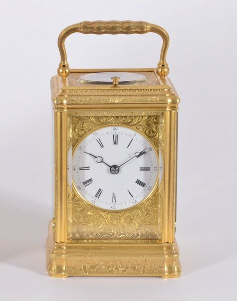 Engraved and Gilded Gorge Cased Carriage Clock