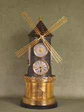 19th Century Windmill Novelty Clock
