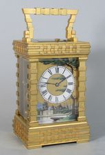 Large and highly unusual Carriage Clock