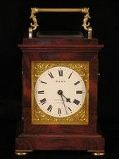 8' rosewood veneered bell striking carriage clock by Dent, circa 1847