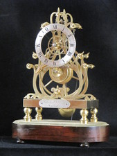 A fine example of one of Condliffs third series skeleton clocks