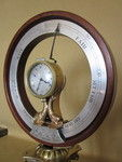Rare 19th Century Barometer with clock by Carman (England)