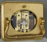 Corniche Cased Carriage Clock with Three Porcelain Panels  (France)